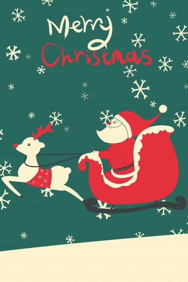 بطاقات المعايدة، عيد ميِد، claus santa، illustration مواد الصور المدرجة