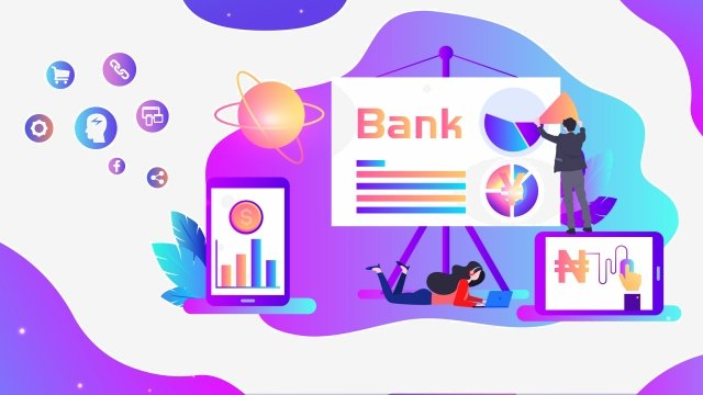 h5 financial business office, Illustration, Data, Currency illustration image