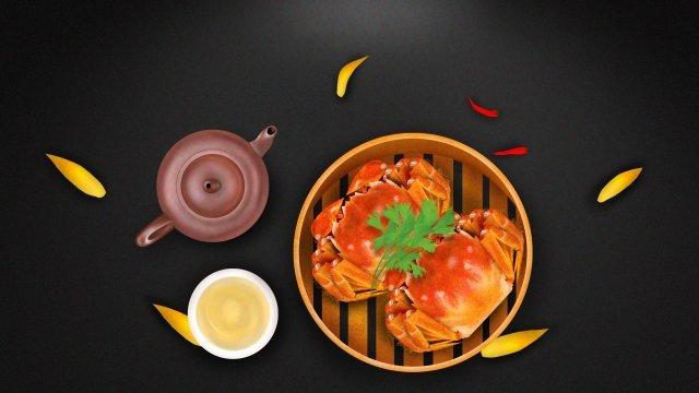 毛深いカニカニカニ食品 イラスト素材 イラスト画像
