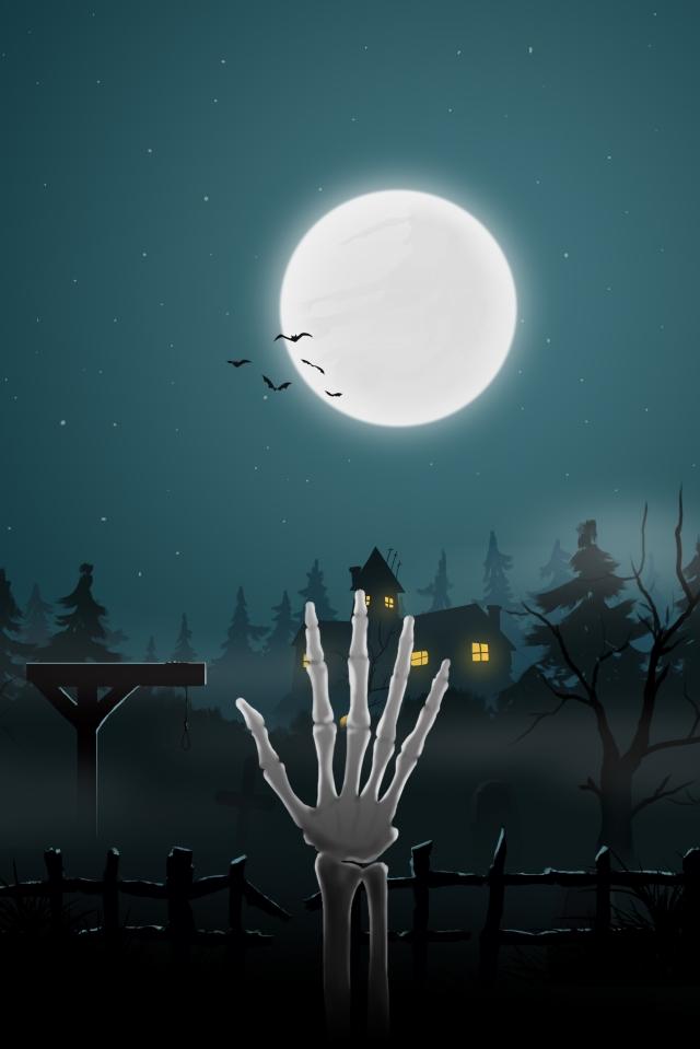 halloween 骷髅 kubur perkuburan imej keterlaluan