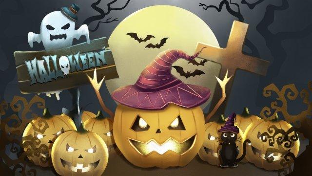 halloween tất cả các thánh bí ngô đèn lồng ma Hình minh họa Hình minh họa