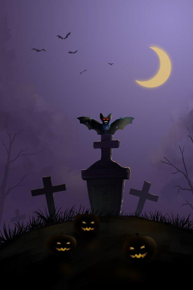 kuburan kubur bat batu halloween imej keterlaluan