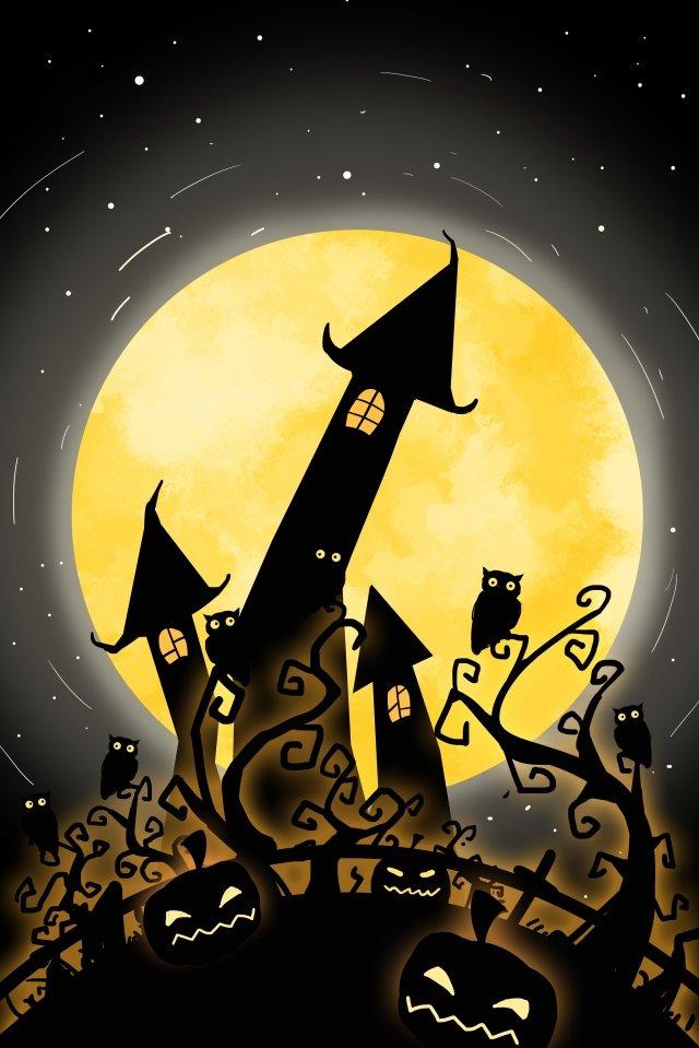 halloween castle labu labu imej keterlaluan