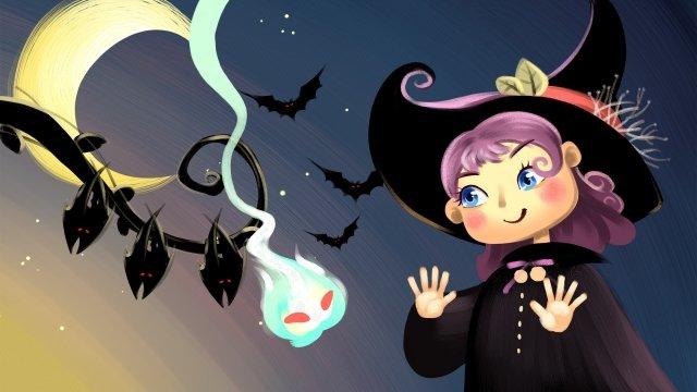 할로윈 축제 외국 축제 마녀 삽화 소재