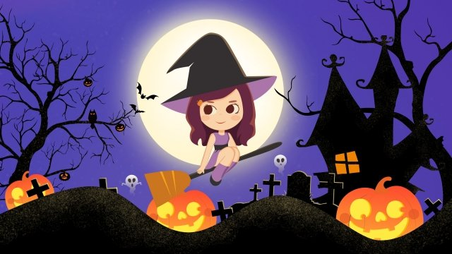 halloween ghost festival halloween witch llustration image