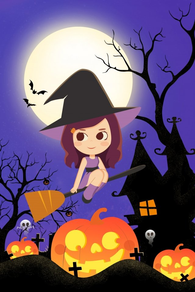 halloween ghost festival halloween witch illustration image