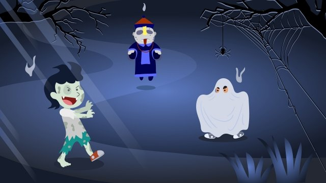 halloween ghost festival zombie ghost llustration image