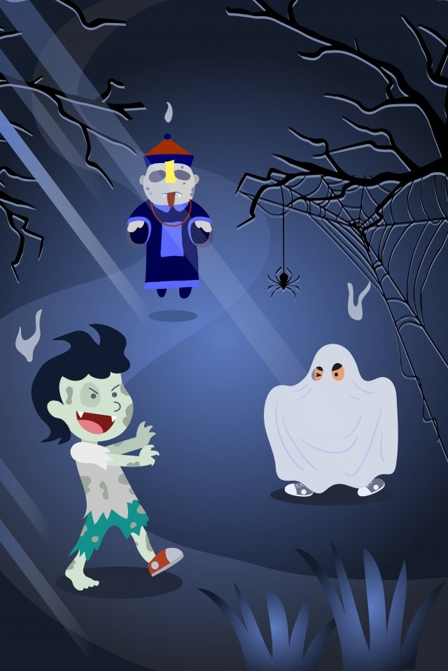 halloween ghost festival zombie ghost illustration image