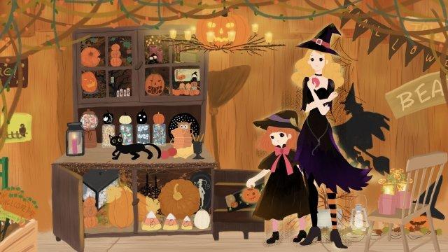 halloween halloween ghost festival pumpkin llustration image