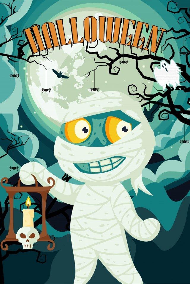 halloween vẽ tay phim hoạt hình halloween zombie ma minh họa Hình minh họa