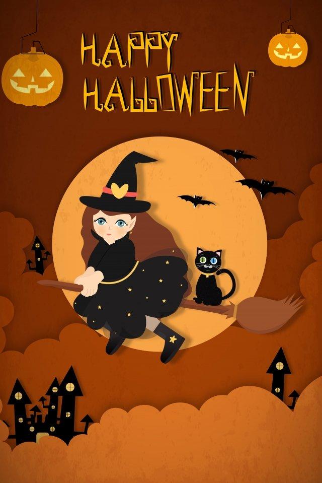 halloween quái vật bóng gió cắt giấy Hình minh họa