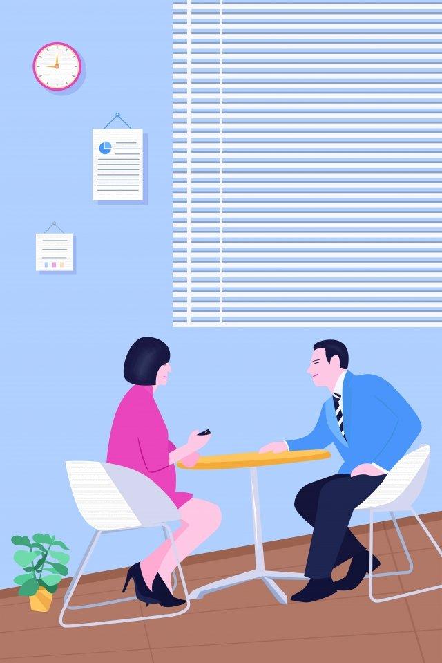 mão desenhados personagens escritório de negócios personagem ilustração chat Material de ilustração