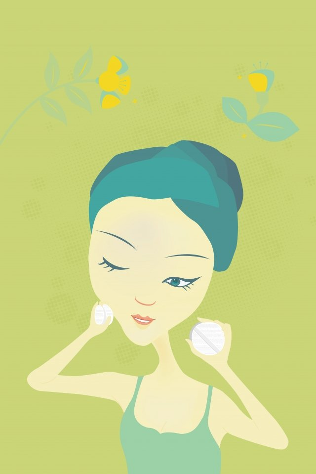 hand drawn fashion girl girl beauty cartoon character flower, Beauty, Female, Woman illustration image