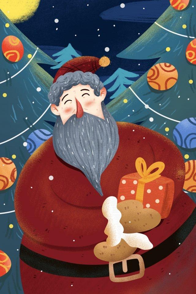 أعطى، تعادل، تصوير، عيد ميِد، claus santa، illustration مواد الصور المدرجة