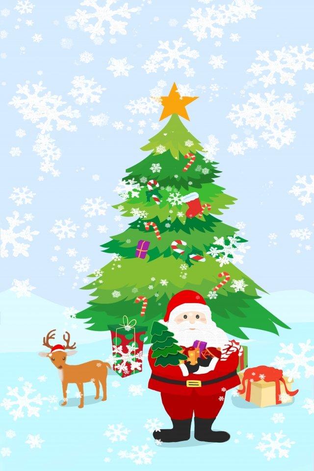 مرسومة باليد نمط عيد الميلاد سانتا كلوز الأيائل مواد الصور المدرجة