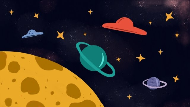 hand painted illustration aerospace universe, Planet, Space, Space Day illustration image