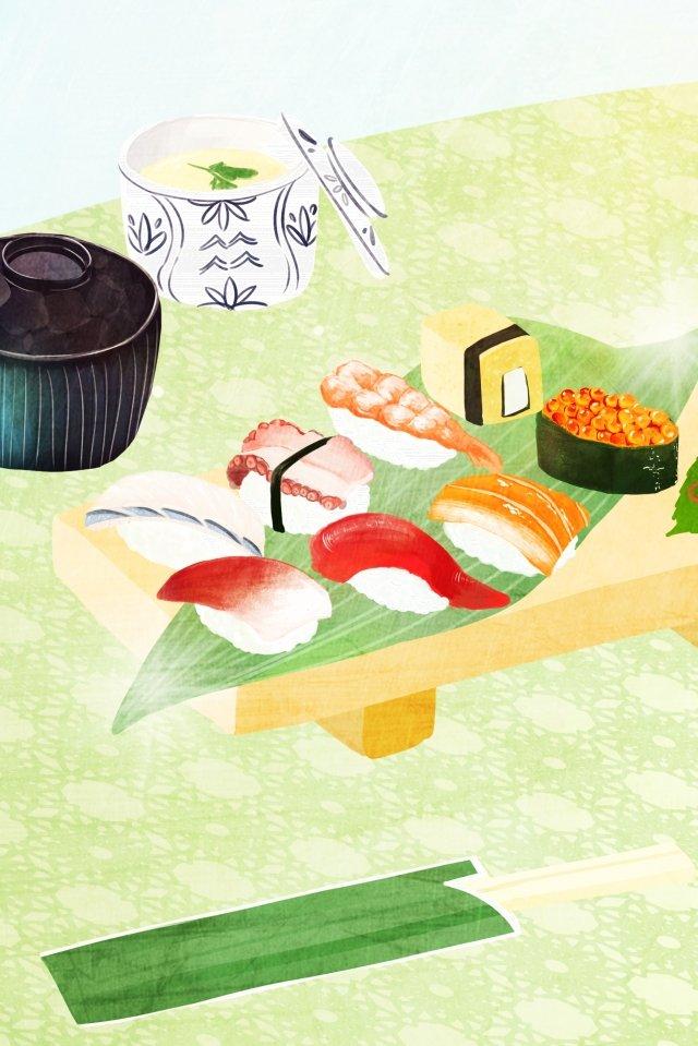 手描きイラスト食べ物和風 イラスト素材