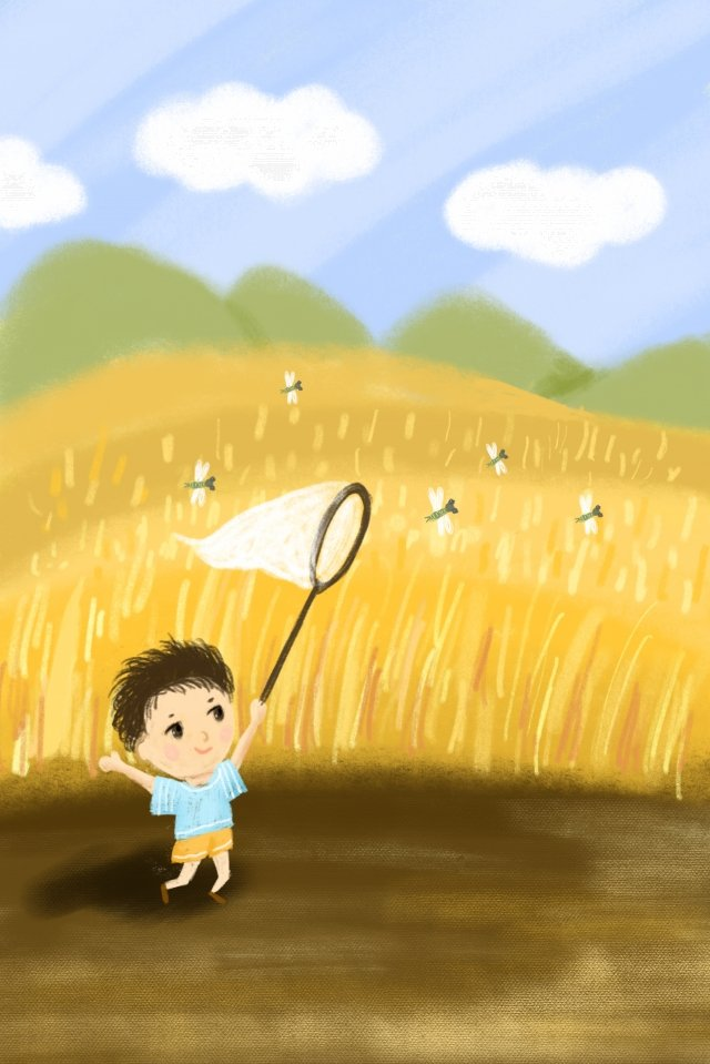 hand painted illustration summer solar terms llustration image illustration image