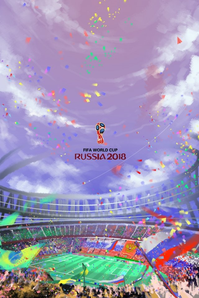手描きイラストワールドカップサッカー イラスト画像