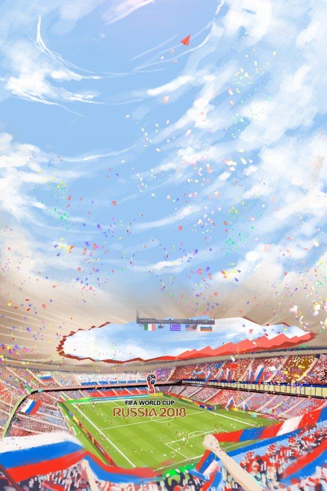 手描きイラストワールドカップサッカー イラスト素材 イラスト画像
