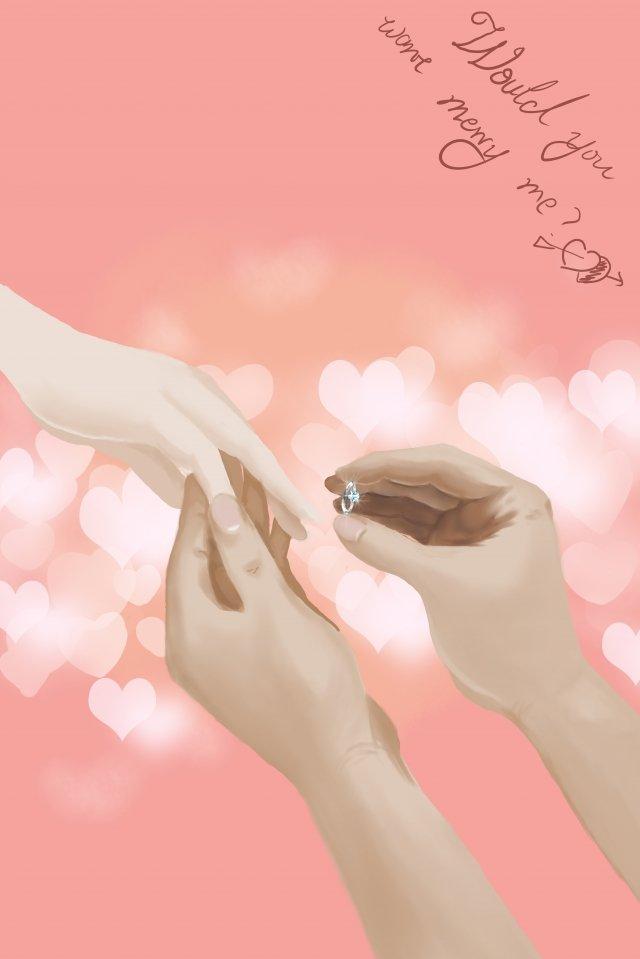 anillo micro real pintado a mano proponer Imagen de ilustración
