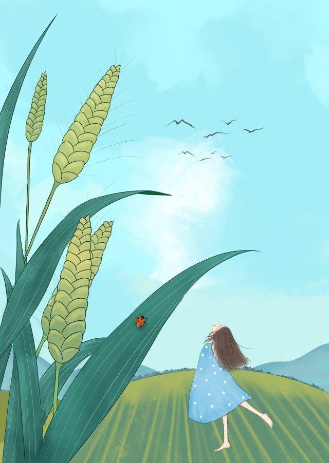 手塗りの太陽の言葉太陽の言葉シーズンxiaoman イラスト素材 イラスト画像
