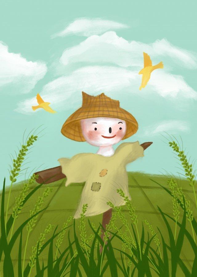 tangan dicat dua puluh empat istilah padang gandum lapangan xiaoman imej keterlaluan