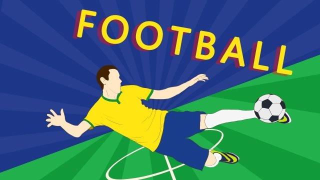 手描きのワールドカップサッカー試合サッカー イラスト素材