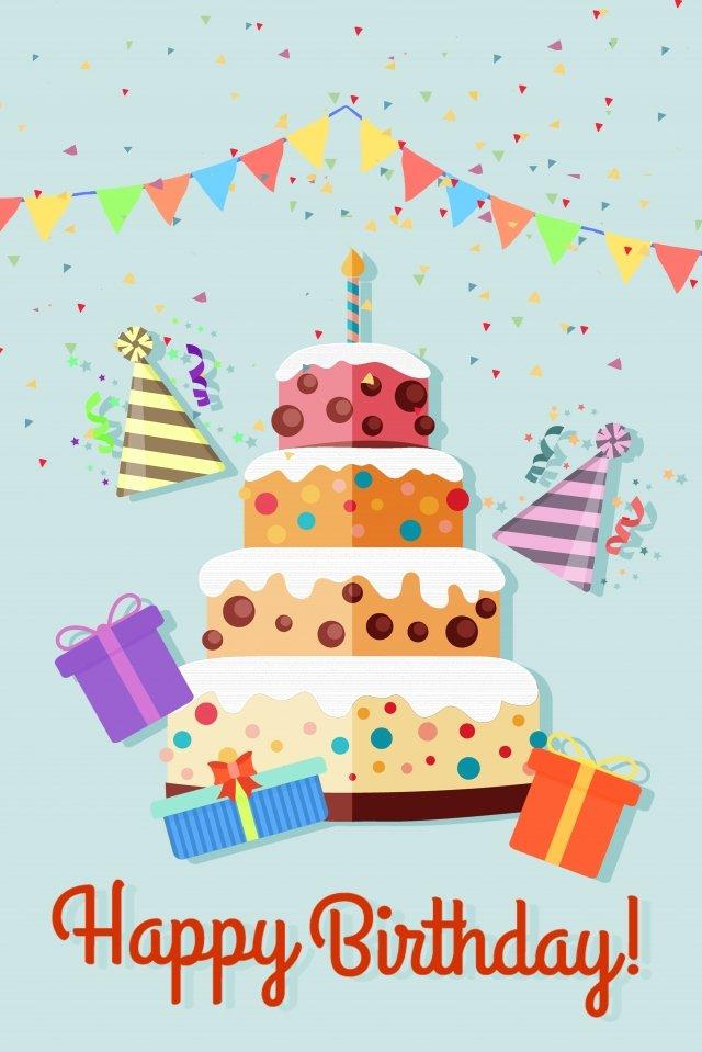 生日快樂生日蛋糕蛋糕紙切割 插畫圖片