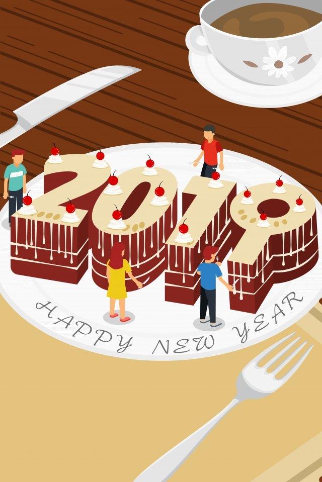 feliz ano novo 2019 palavra arte ano novo 2019 Material de ilustração Imagens de ilustração