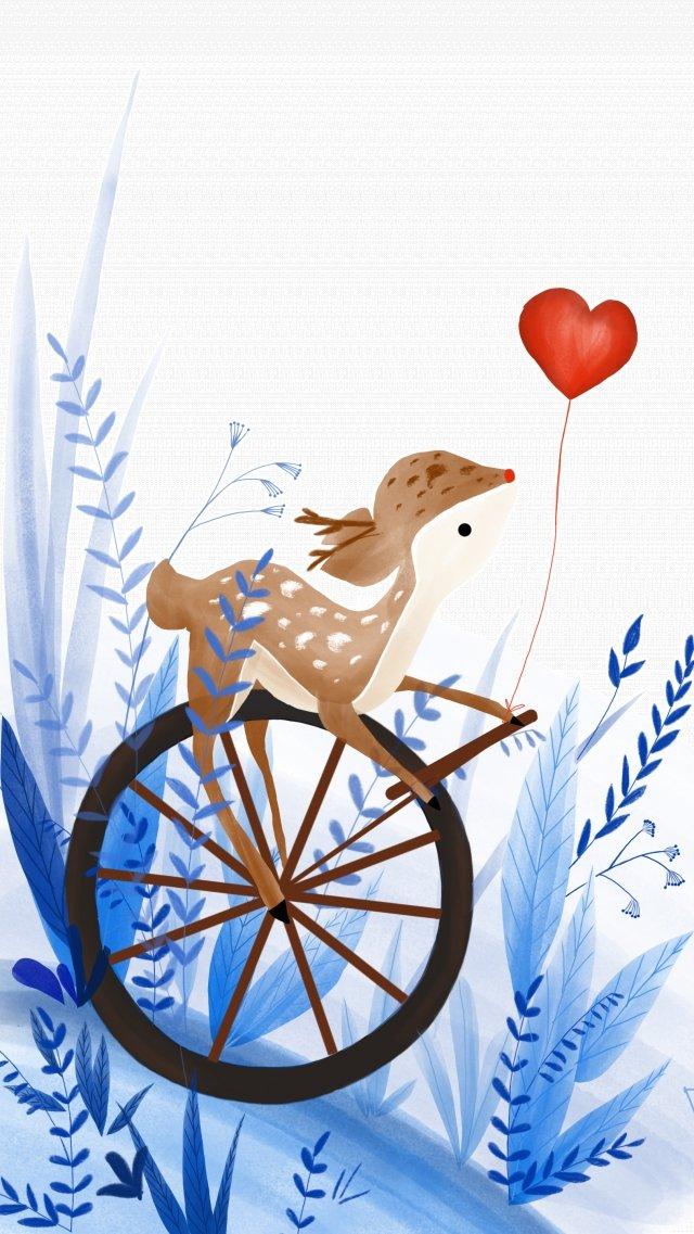 cura acrobacias de veados de sika de animal de estimação bonito Material de ilustração
