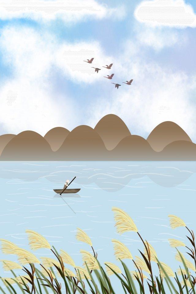 白い露hongyan小さなボートを癒し イラスト画像