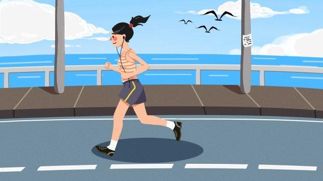 건강 운동 모션 실행 삽화 소재 삽화 이미지