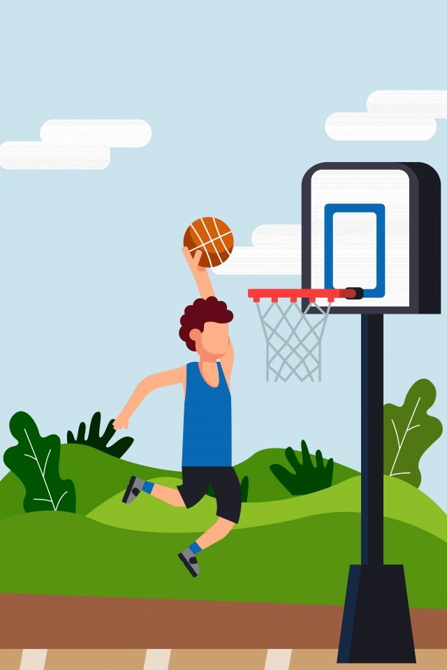 health motion play basketball fitness llustration image