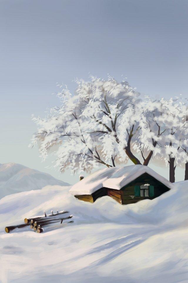 大雪雪太陽条件雪山 イラスト画像