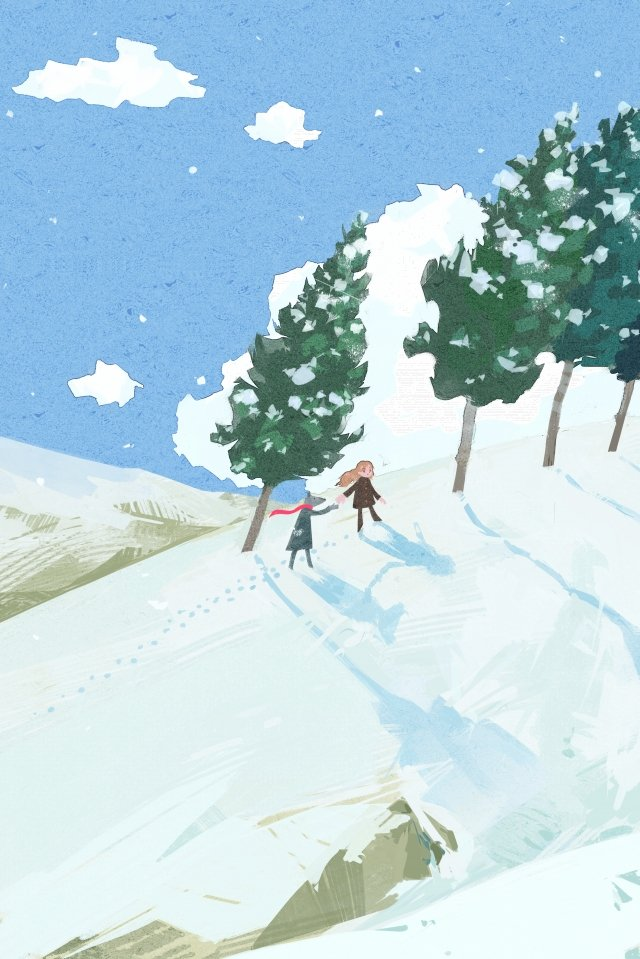 heavy snow snowing winter illustration, Hillside, Cedar, Heavy Snow illustration image