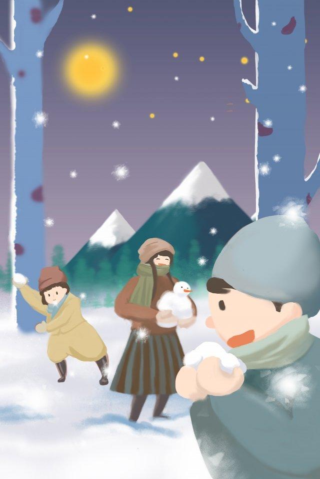 chơi tuyết tuyết đêm tuyết nặng Hình minh họa Hình minh họa