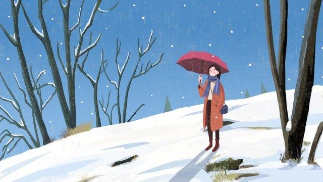 大雪ソーラー用語漫画雪が降る イラスト素材
