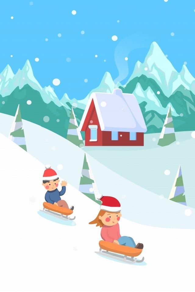 大雪ソーラー用語図冬 イラスト素材 イラスト画像