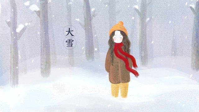heavy snow winter snowing forest, Snow, Heavy Snow, Winter illustration image