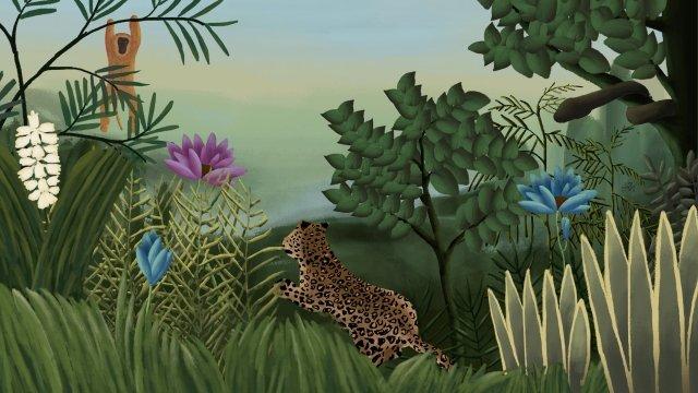 ヘンリールソー熱帯雨林ヒョウ猿 イラスト素材