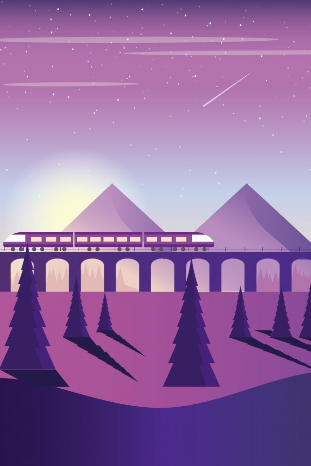 high-speed rail train travel season, Long, Holidays, High-speed Rail illustration image