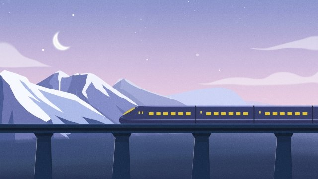 high-speed rail transportation come back home travel, Travel, High-speed Rail, Transportation illustration image