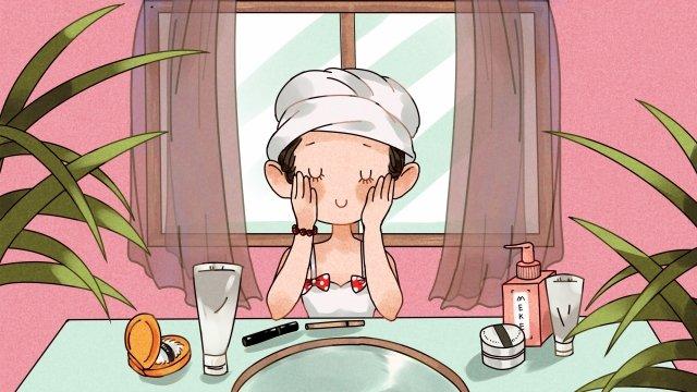 home leisure make up skin care llustration image