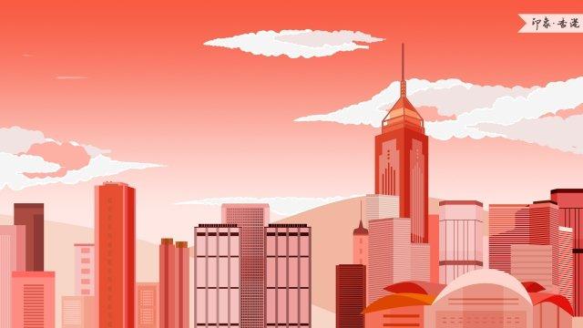 香港香港コンベンション&エキシビションセンター印象ランドマークビル イラスト素材 イラスト画像