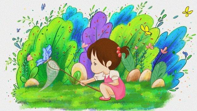 ホラー春蝶の少女 イラストレーション画像 イラスト画像