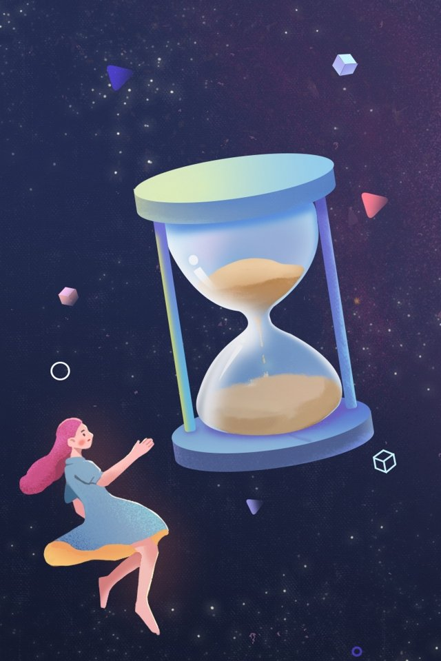 hourglass fantasy cure beautiful, Artistic Conception, Girl, Hourglass illustration image
