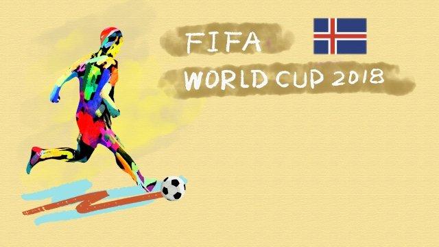 アイスランドサッカーワールドカップ2018 イラスト素材 イラスト画像