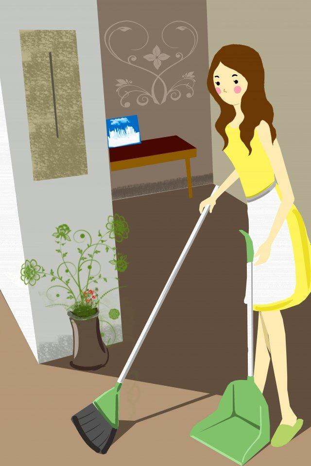 placa de ilustração pintura trabalho doméstico trabalho Material de ilustração
