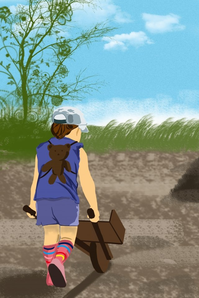 चित्रण बोर्ड पेंटिंग श्रमिक श्रम दिवस चित्रण छवि
